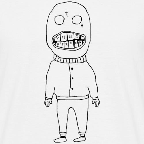 mannetje met tanden - Mannen T-shirt