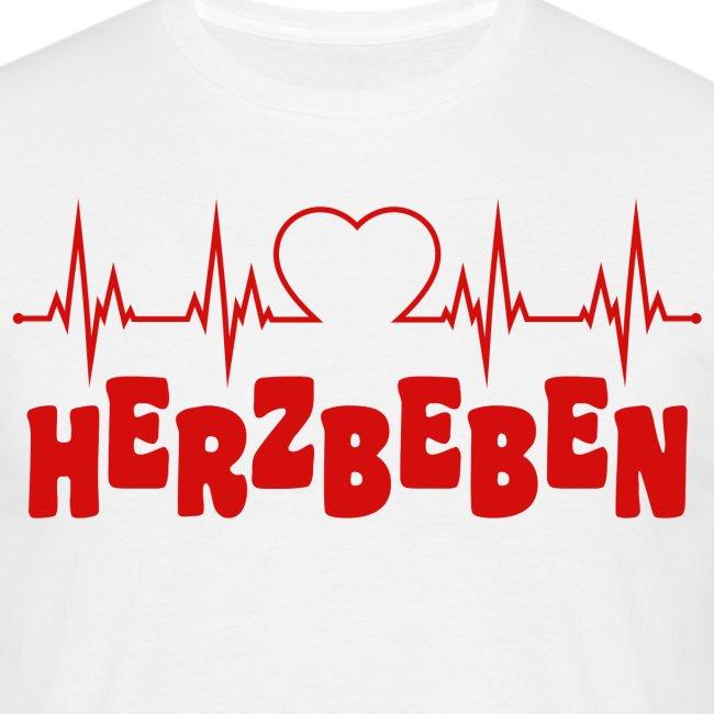 Glitzer Herzbeben Schlager Musik Herz Beben Top T-Shirt Tshirt