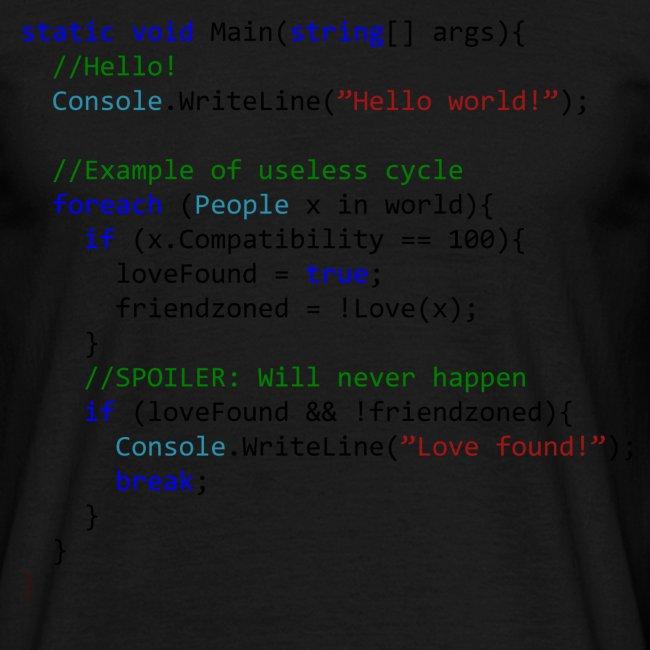 Love seen by a C# programmer