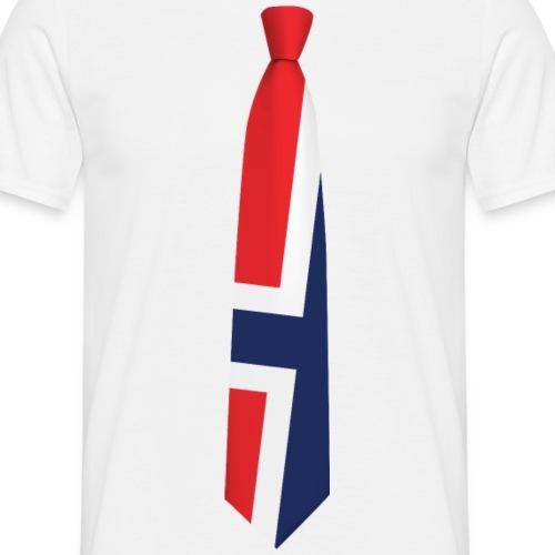 norskflagg001 - T-skjorte for menn