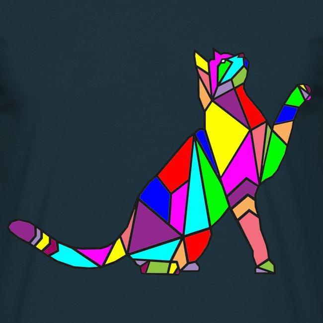composizione di arte animale animale domestico colori gatto