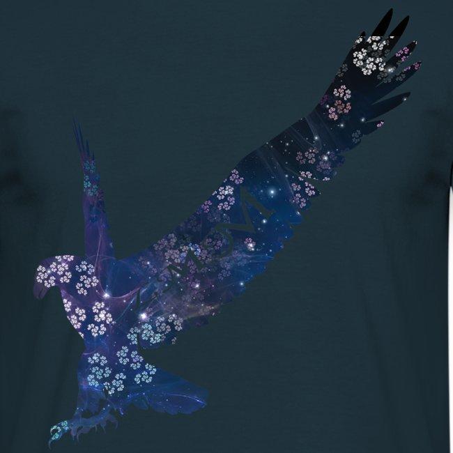 Aigle motif fleurs png