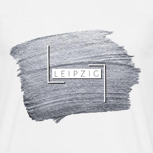 Leipzig — Silver Brush - Männer T-Shirt