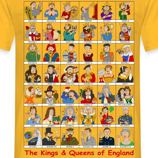 Kings & Queens of England (Single Sided)