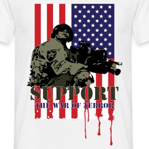Support the war of terror - Koszulka męska