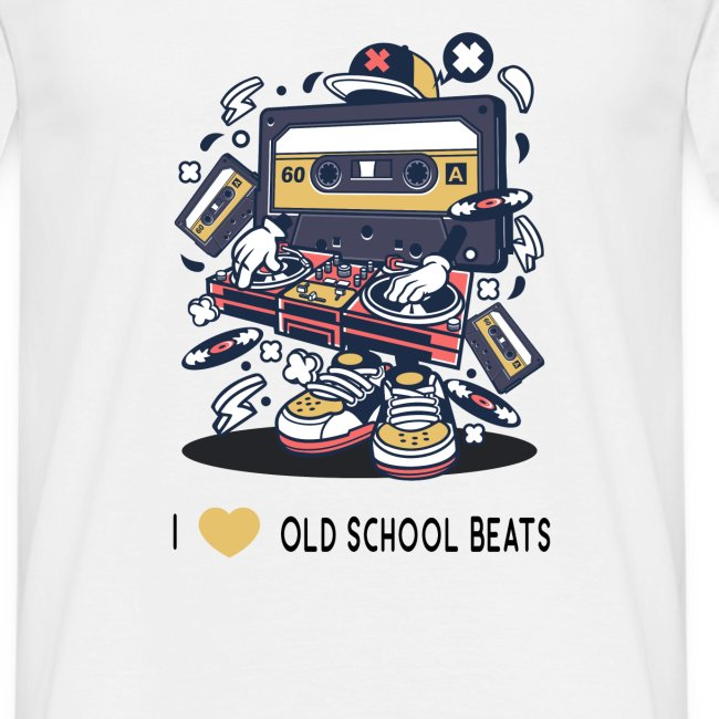 I Love Old School Beats Retro Design