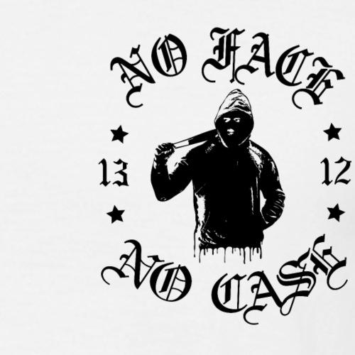 No Face, No Case - pieni printti - Miesten t-paita