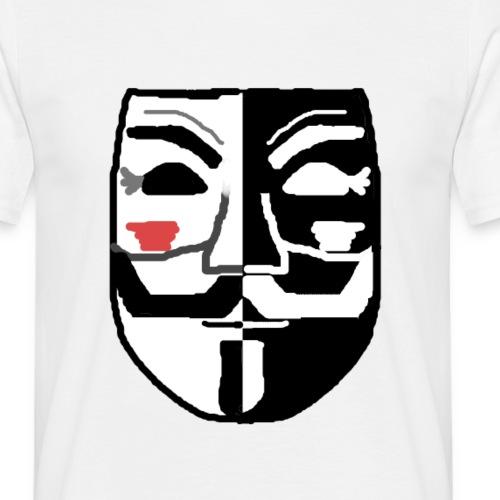 VforVendetta black white - Men's T-Shirt
