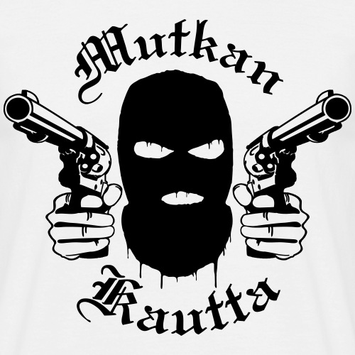 Mutkan Kautta remix - musta printti - Miesten t-paita