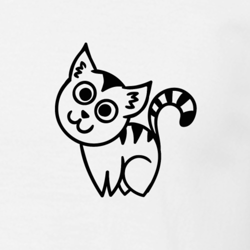 T-shirt chat coeur