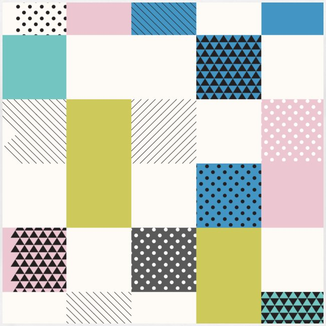 Abstract art squares