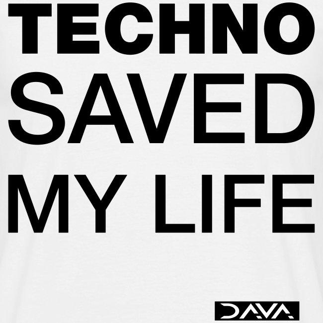 Techno Saves lives - black