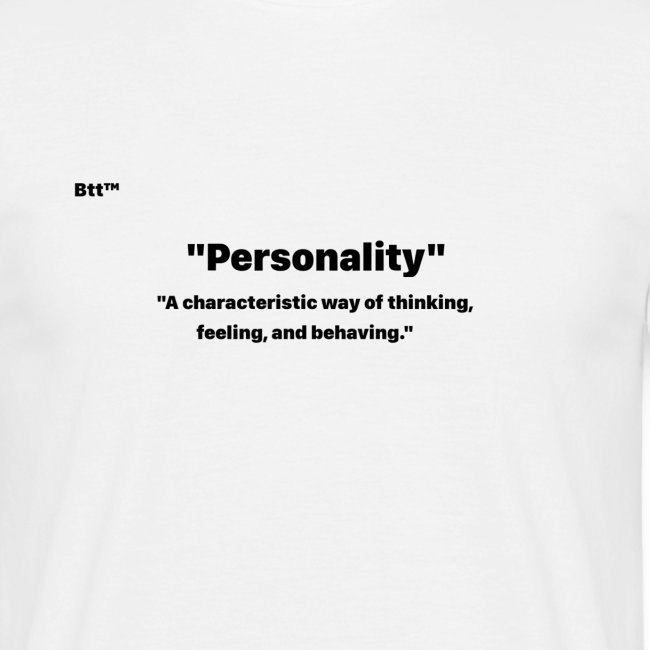 """""""Personality"""""""