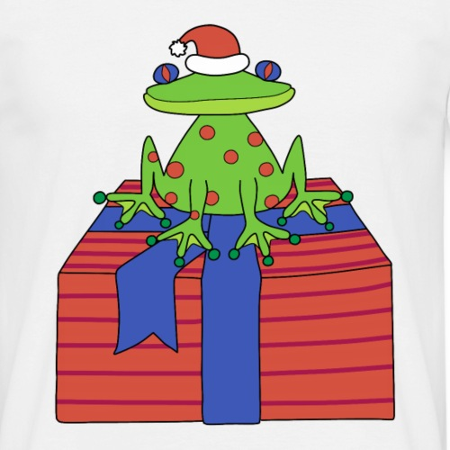 Christmas frog - Men's T-Shirt