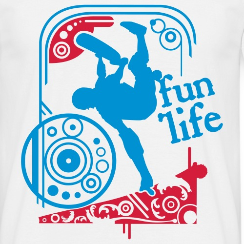 Motif Skate - T-shirt Homme
