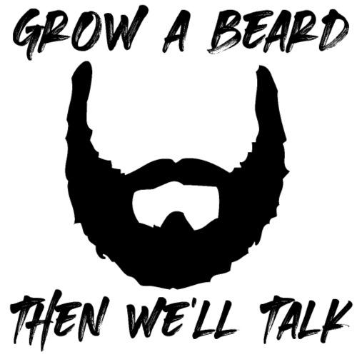 crescere una barba uomo alfa arte barba uomo - Maglietta da uomo