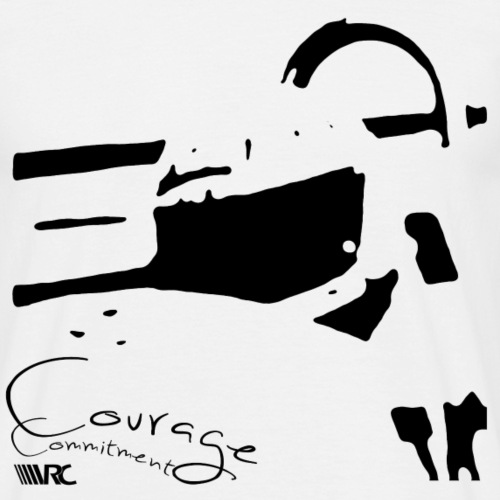 Courage Commitment - Männer T-Shirt