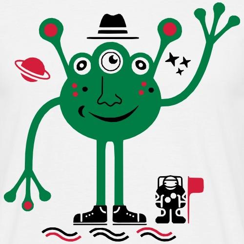Martian   Marciano Amistoso y Astronauta - Camiseta hombre