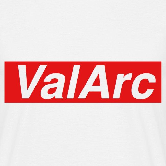 ValArc Text Merch Red Background