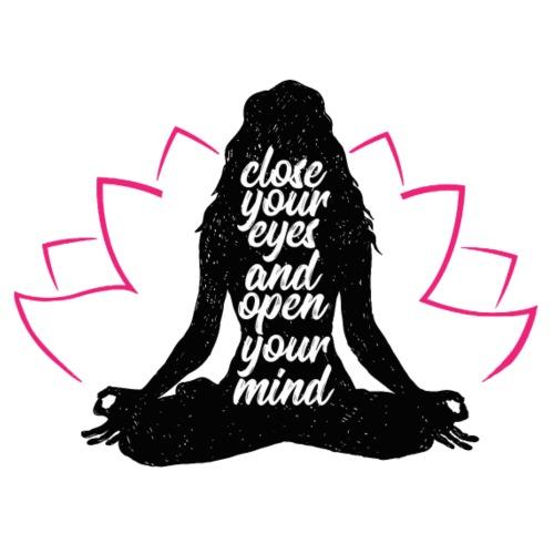 chiudi gli occhi yoga pace amore sport arte - Maglietta da uomo