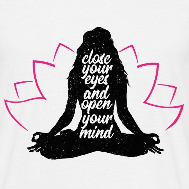 chiudi gli occhi yoga pace amore sport arte