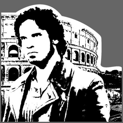 colosseo art art bianco e nero roma - Maglietta da uomo