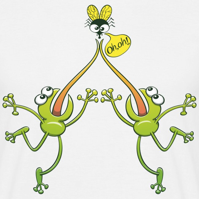 Frogs argue for an unhappy fly