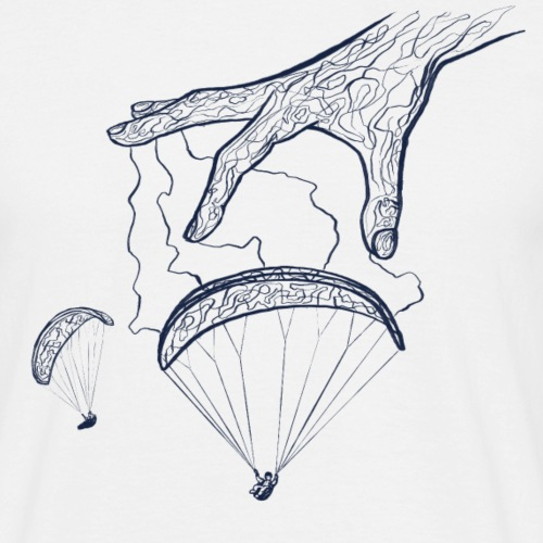 Paragliding Magic Hand - Männer T-Shirt