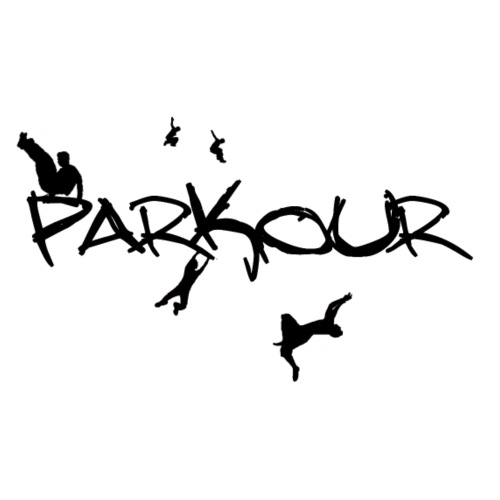 Parkour Sort - Herre-T-shirt