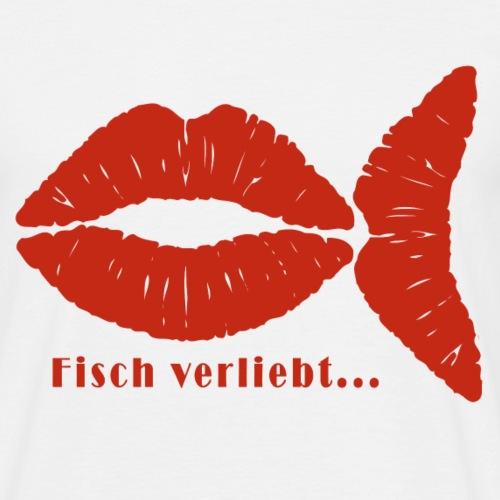Fisch verliebt - Männer T-Shirt