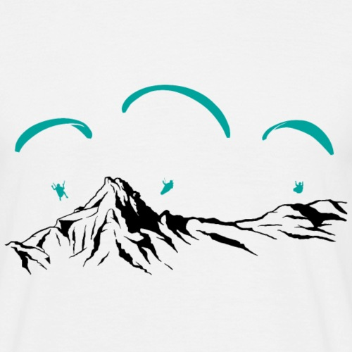 Paragliding Paragleiter Gleitschirm - Männer T-Shirt