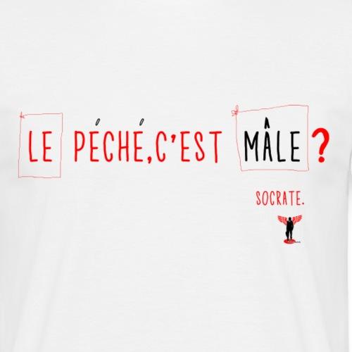 LE PECHE CEST MALE png - T-shirt Homme