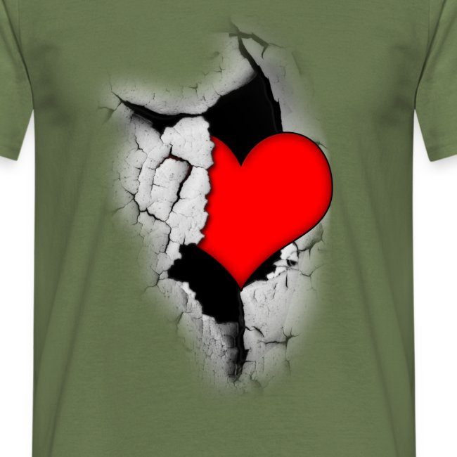Heart from a crack