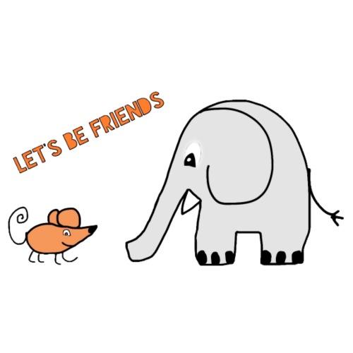 Elephant and mouse, friends - Men's T-Shirt
