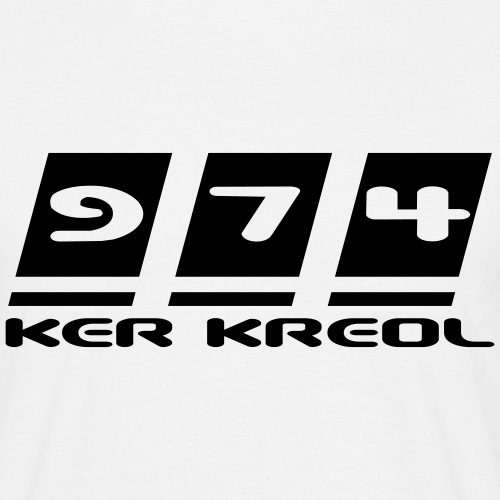 Logo écriture 974 Ker Kreol - T-shirt Homme