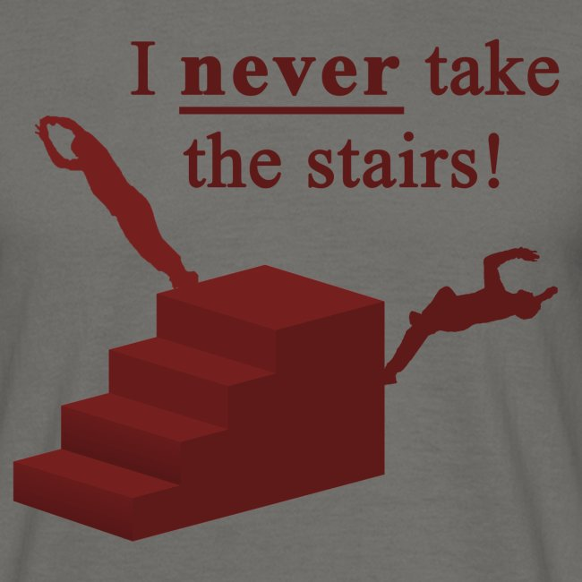 I Never Take The Stairs Red Parkour