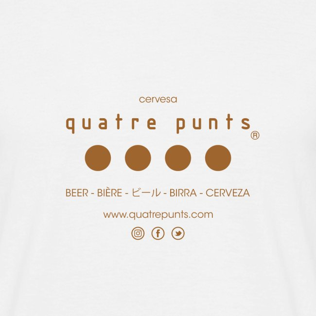 QUATRE PUNTS logo brown