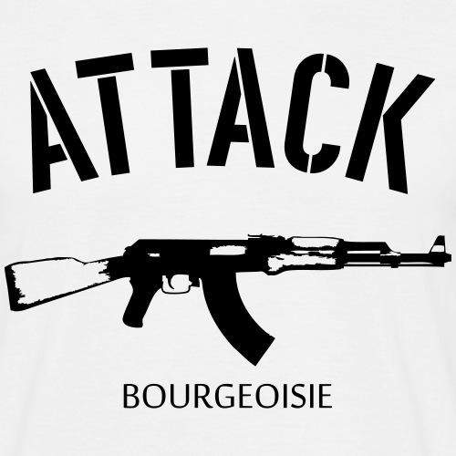 Attack bourgeoisie - Miesten t-paita