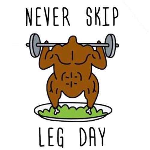Never skip legday - T-shirt herr