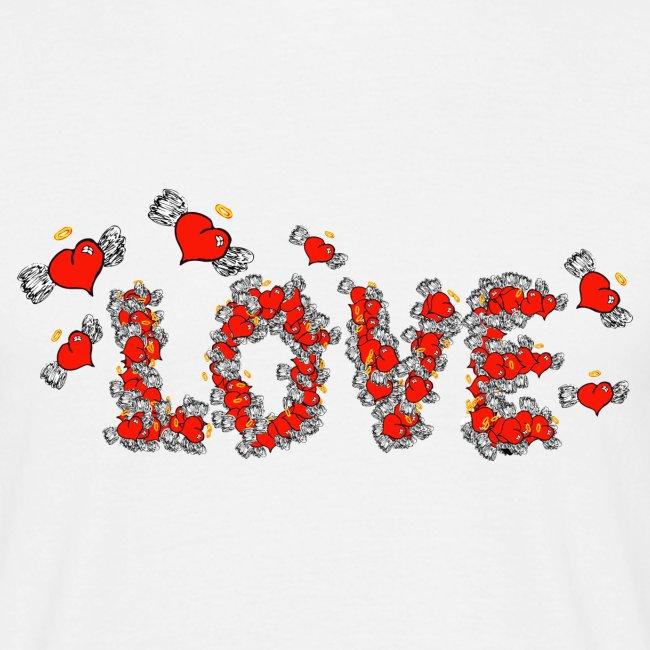 Coeurs d'amour de vol