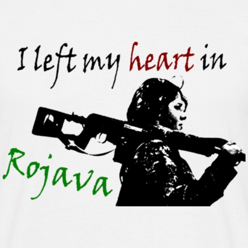 Left my heart in Rojava - Men's T-Shirt