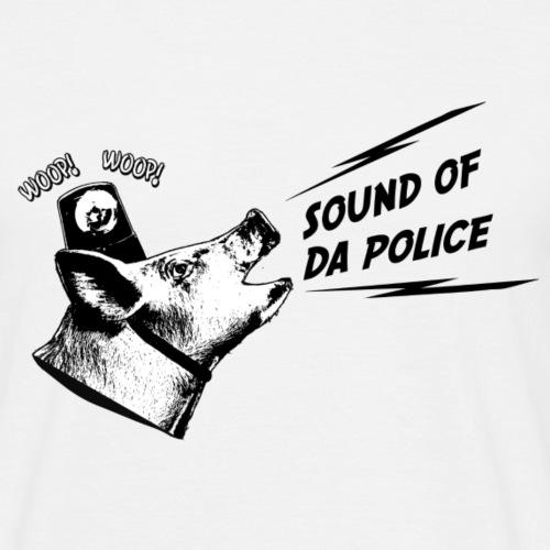 Sound of da Police - musta printti - Miesten t-paita