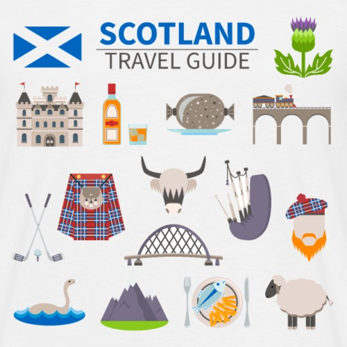 Scotland travel guide - T-shirt Homme
