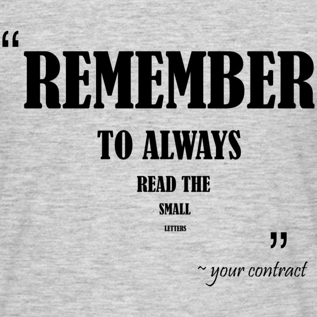 remember to read