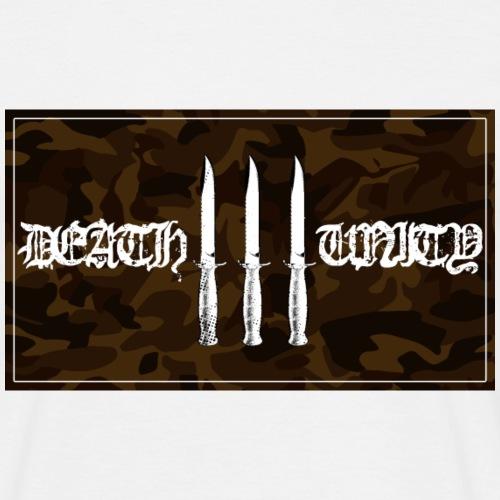 DEATH UNITY camo logo - Miesten t-paita