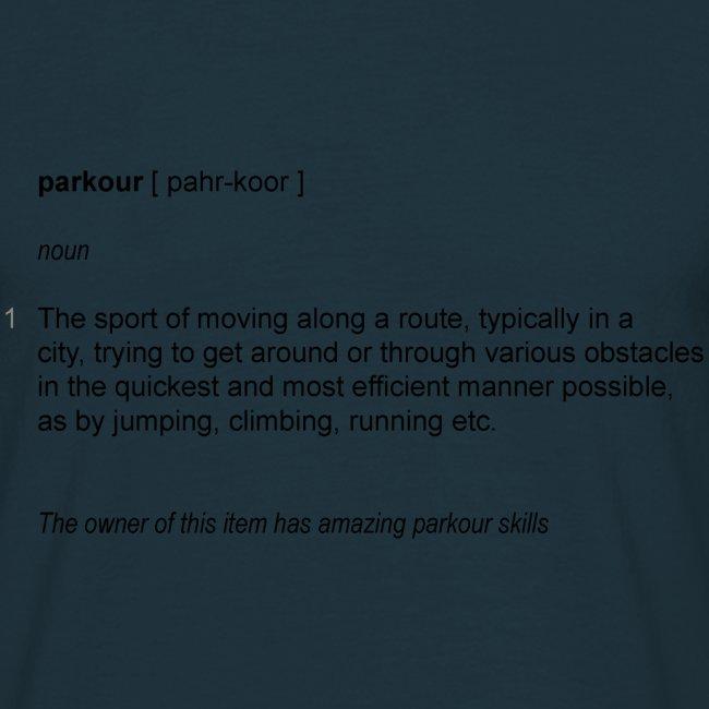parkour dictionay
