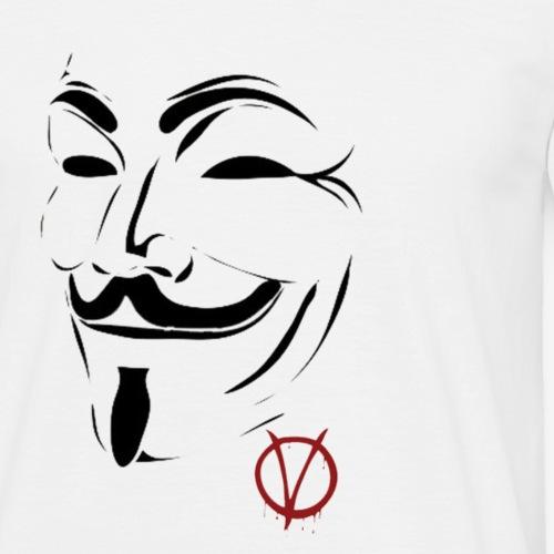 v - Mannen T-shirt