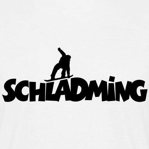 Schladming Snowboard Snowboarder - Männer T-Shirt