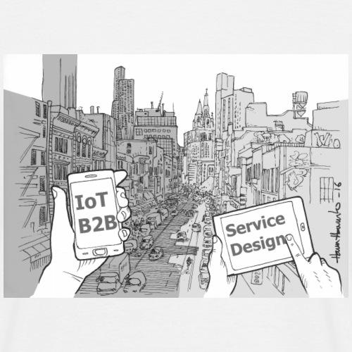 Iot palvelumuotoilu - Miesten t-paita