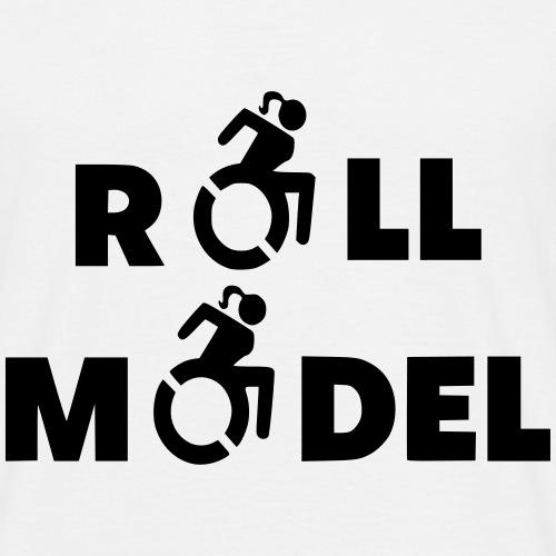 Dame in rolstoel is ook een roll model - Mannen T-shirt